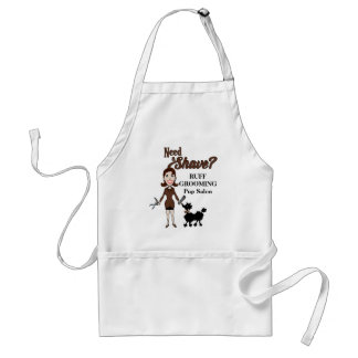 Need a Shave in Cocoa Brown for Pet Groomers Adult Apron