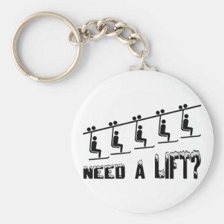 Need A Ski Lift Basic Round Button Keychain