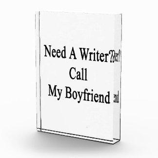 Need A Writer Call My Boyfriend Awards