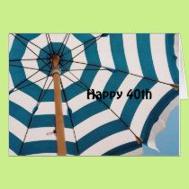 """NEED AN UMBRELLA TO HIDE UNDER FOR YOUR """"40TH"""" CARD"""