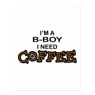 Need Coffee - B-Boy Postcard