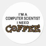 Need Coffee - Computer Scientist Round Sticker