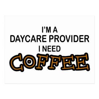 Need Coffee - Daycare Provider Postcard