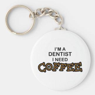 Need Coffee - Dentist Basic Round Button Keychain