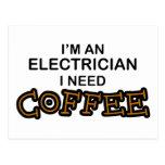 Need Coffee - Electrician Postcard