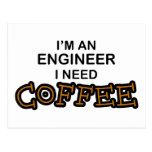 Need Coffee - Engineer Postcard