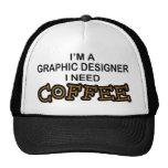 Need Coffee - Graphic Designer Mesh Hat