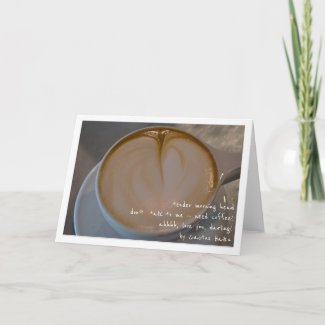 Need Coffee Haiku Latte Heart Blank Card