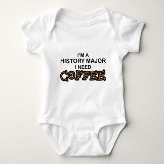 Need Coffee - History Major Baby Bodysuit
