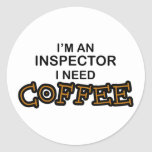 Need Coffee - Inspector Stickers