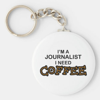 Need Coffee - Journalist Keychain