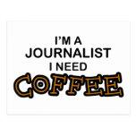 Need Coffee - Journalist Postcard