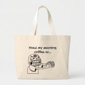 Need Coffee! Large Tote Bag