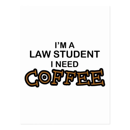 Need Coffee - Law Student Postcard