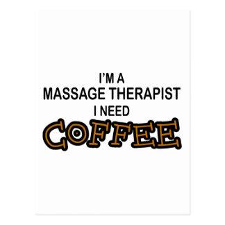 Need Coffee - Massage Therapist Postcard