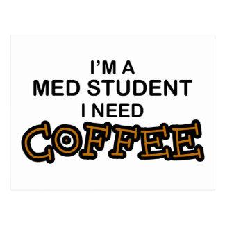 Need Coffee - Med Student Postcard