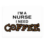 Need Coffee - Nurse Postcard
