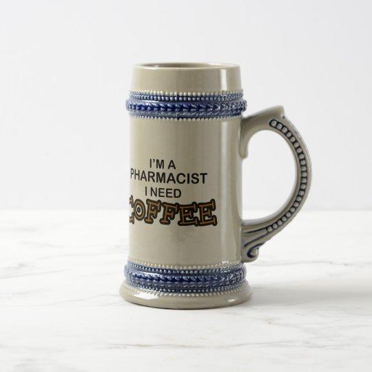 Need Coffee - Pharmacist Beer Stein