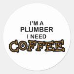 Need Coffee - Plumber Classic Round Sticker
