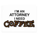Need Coffee Postcard