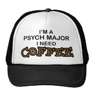 Need Coffee - Psych Major Trucker Hat