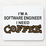 Need Coffee - Software Engineer Mouse Pad
