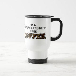 Need Coffee - Software Engineer Travel Mug