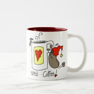 Need Coffee Stick Figure Coffee Bean mug