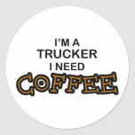 Need Coffee - Trucker Stickers