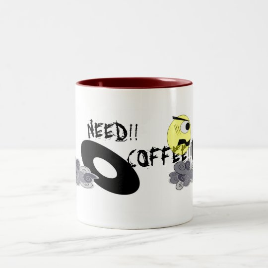 NEED!! COFFEE!! Two-Tone COFFEE MUG
