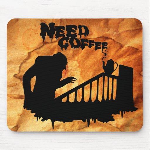 NEED COFFEE Vampire Mousepad