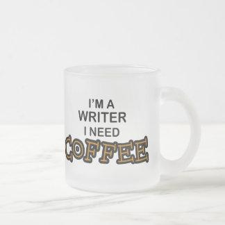Need Coffee - Writer Frosted Glass Coffee Mug