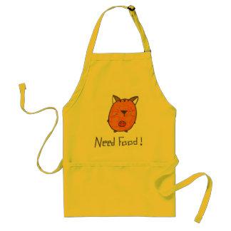 need food adult apron