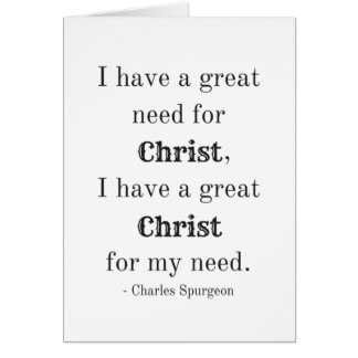 Need for Christ Card