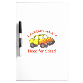 NEED FOR SPEED DRY ERASE WHITEBOARDS