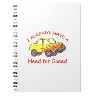 NEED FOR SPEED SPIRAL NOTEBOOKS