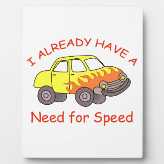 NEED FOR SPEED PHOTO PLAQUE
