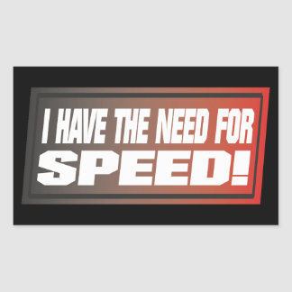 Need For Speed Rectangle Stickers