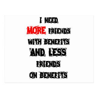 NEED FRIENDS POSTCARD