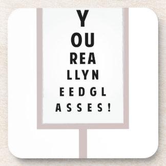 Need Glasses Beverage Coaster