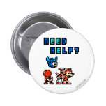 Need Help? 2 Inch Round Button