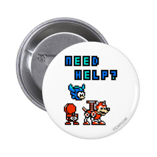 Need Help? Pinback Button