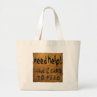 NEED HELP I HAVE 2 CARS TO FEED TOTE BAGS