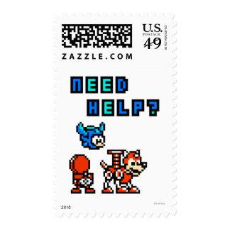 Need Help? Postage Stamp