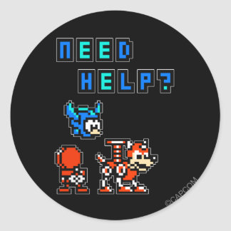Need Help? Sticker