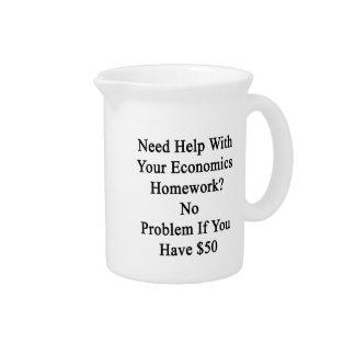 Need Help With Your Economics Homework No Problem Drink Pitcher