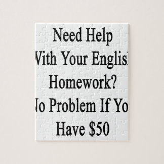 Need Help With Your English Homework No Problem If Jigsaw Puzzle