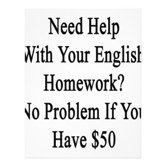 Need Help With Your English Homework No Problem If Letterhead