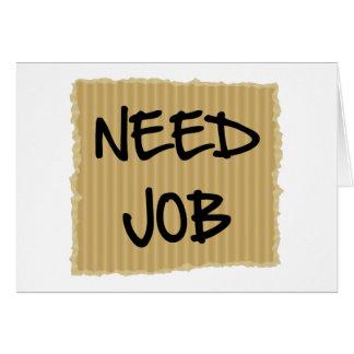 Need Job Card
