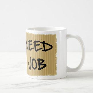 Need Job Coffee Mug